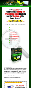 175 Bargain PLR Products preview. Click for more details