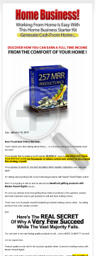 257 MRR Home Business Products Package preview. Click for more details