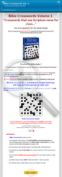 Bible Crosswords Volume 1 preview. Click for more details