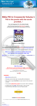 Bible Fill-in (word fit) Crossword Puzzles Vol. 1 preview. Click for more details