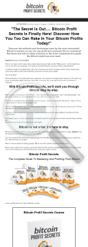 Bitcoin Profit Secrets preview. Click for more details