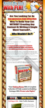 Build My List With PLR preview. Click for more details