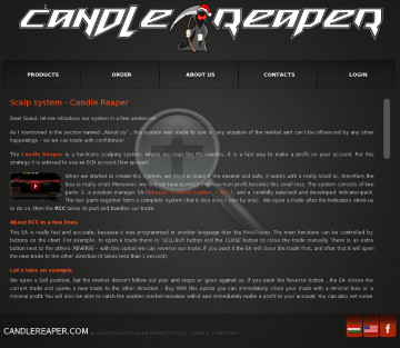 Candle Reaper - M1 scalping system 1 license + RCC preview. Click for more details
