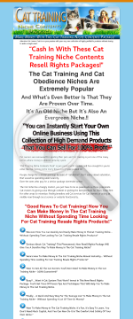 Cat Training Niche Content Package preview. Click for more details