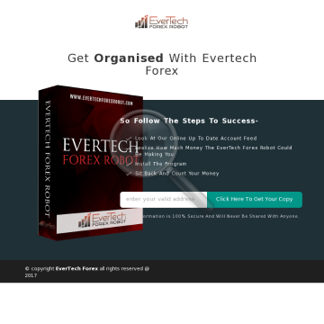 EverTech Forex Robot {1 License} preview. Click for more details