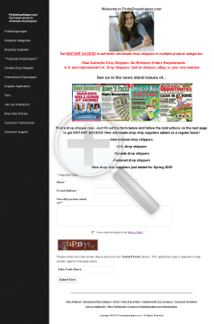 Findadropshipper Drop Ship Directory preview. Click for more details