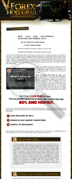 Forex Holy Grail - Professional Trading System preview. Click for more details