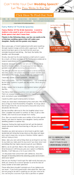 Funny Mother Of The Bride Speech Book preview. Click for more details