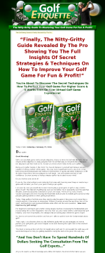 Golf Etiquette - Learn the Basics of Golf Etiquette preview. Click for more details