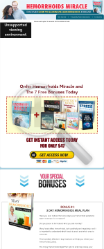 Hemorrhoids Miracle preview. Click for more details