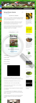 Racing Winners preview. Click for more details