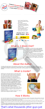 The 3 Week Diet System preview. Click for more details