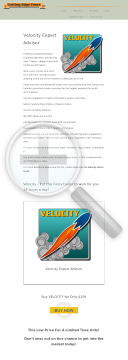 Velocity preview. Click for more details